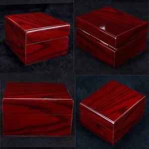 Image 2 - 4Pcs עץ שעון תיבת תצוגת מקרה אוסף, Vintage סגנון תכשיטי אחסון ארגונית לנשים גברים אדום
