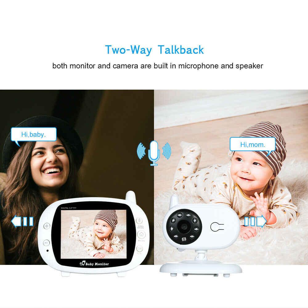 Monitor de bebé inalámbrico de Audio Dual de 3,5 pulgadas, cámara de seguridad para bebés de alta resolución, visión nocturna, monitoreo de temperatura
