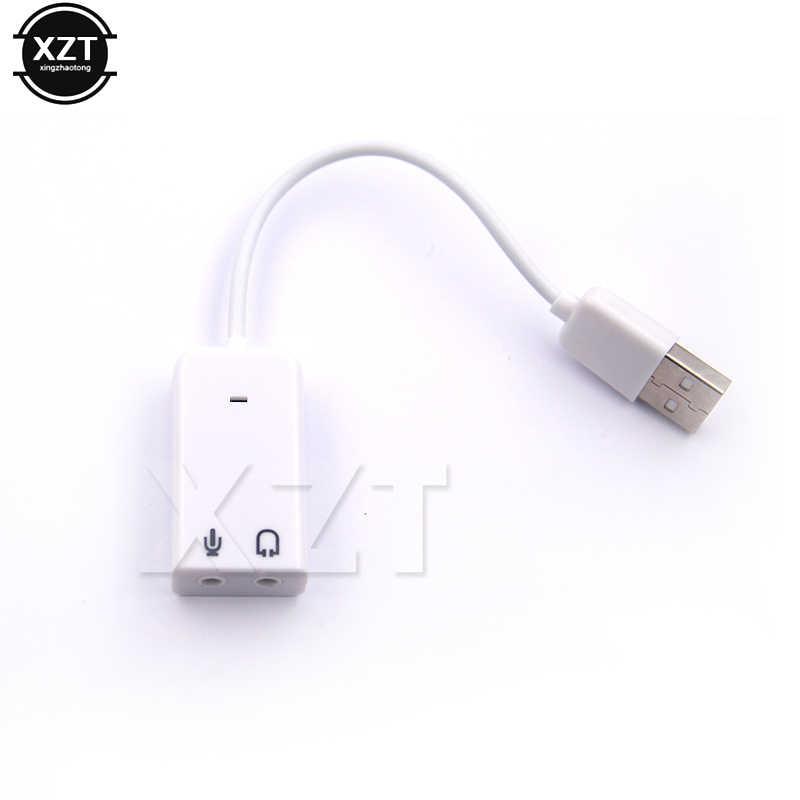 Usb サウンドカード仮想 7.1 3D 外部 USB オーディオアダプタ USB 3.5 ミリメートルイヤホンマイクノートパソコンノート Pc