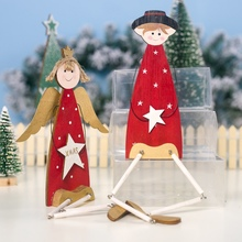 цена Christmas Ornaments Wooden Decorative Man Angel Christmas Decoration For Home Table Garland Gift