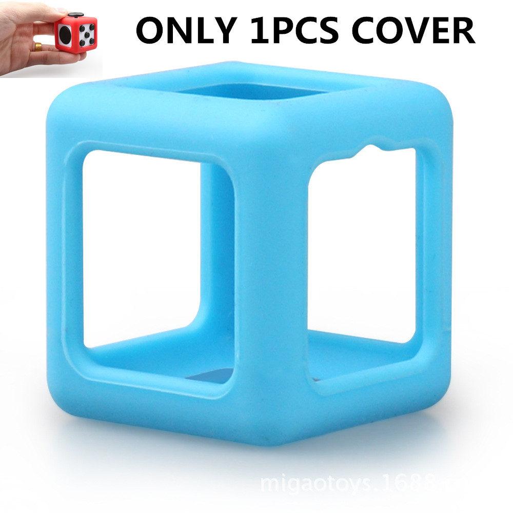 1PCS COVER Silicone Case for Magic Stress Cube Stress Fidget Toy Squeeze Cube Protect Case Relief Kids Toys Puzzle Party Favors