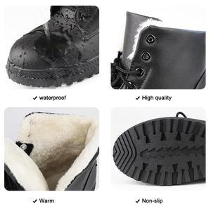 Image 5 - קרסול מגפי נשים 2020 חורף קטיפה חמים קלאסי שלג מגפי נשים גומי החלקה שחור נשי אתחול בתוספת גודל 41 44