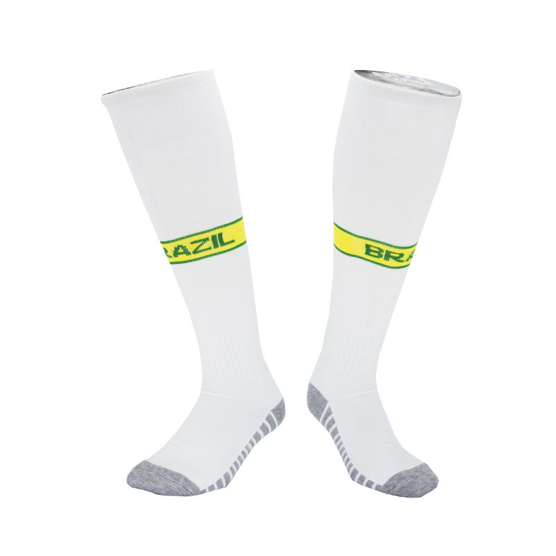 Soccer Socks Football Thick Warm National Team Brazil Socks Knee High Train Long Stocking Sports Kid Adult Socks