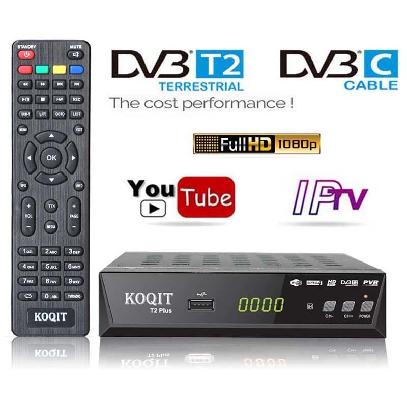 HD MPEG4 DVB T2 ТВ приемник DVB C тюнер DVB-T2 DVB-C комбо H.264 Поддержка WIFI Youtube Full HD наземный кабельный ресивер ТВ-приставка