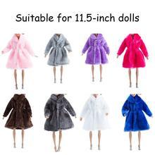 Моделирование мода чистый цвет серия плюш пальто куртка мех 28% 2F30см одежда девочка игрушка одежда для Барби одежда аксессуары