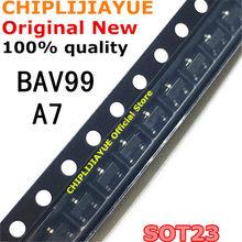 50 pces bav99 a7 a7w sot-23 0.2a/70v sot23 smd novo e original ic chipset