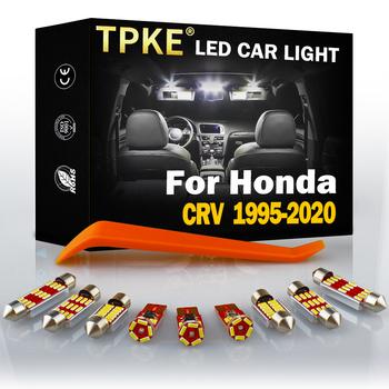 TPKE dla Honda CRV CR-V 1995-2020 lampy samochodowe LED wnętrze Trunk Dome mapa oświetlenie tablicy rejestracyjnej zestaw Canbus automatyczne oświetlenie akcesoria tanie i dobre opinie CN (pochodzenie) 320LM T10 (W5W 194) 12 v 31mm 1997 1998 19 99 2000 2001 2002 2003 2004 2005 2006 2007 2008 2009 2010 2011