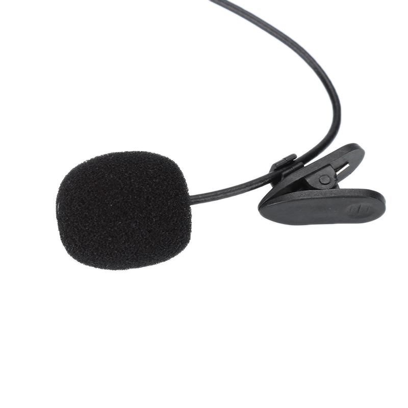3.5mm Mini Studio Speech Mic Microphone Clip On Lapel For PC Notebook 1.5M For IPhone SmartPhone Recording PC