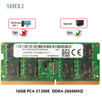 SHELI 16GB 2RX8 PC4-21300E DDR4-2666MHz 260PIN ECC SO-DIMM Unbuffered 서버 메모리
