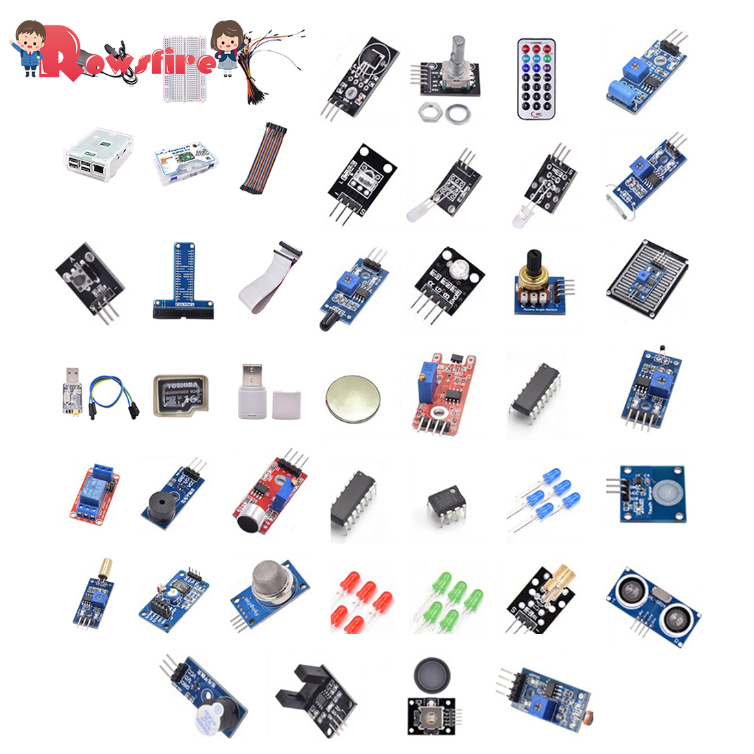 Deluxe Version Development Board Sensor Computer Suite Starter Kit Without Mainboard For Raspberry Pi 3B+