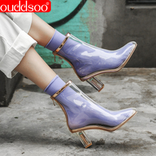 ODS Pvc Transparent Boots Sexy For Women Heels