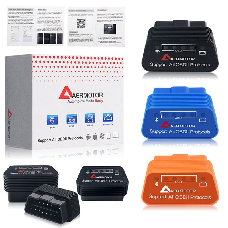 Original Aermotor Wifi ELM327 V1.5 Bluetooth 4,0 ULME 327 1,5 OBD2 Diagnose Scanner Android IOS Windows Funktioniert ELM327 Adapter