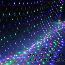 2x2M 3x2M 6x4M LED Net Mesh Fairy String Light Garland Window Curtain Christmas Fairy Light Wedding Party Holiday Light