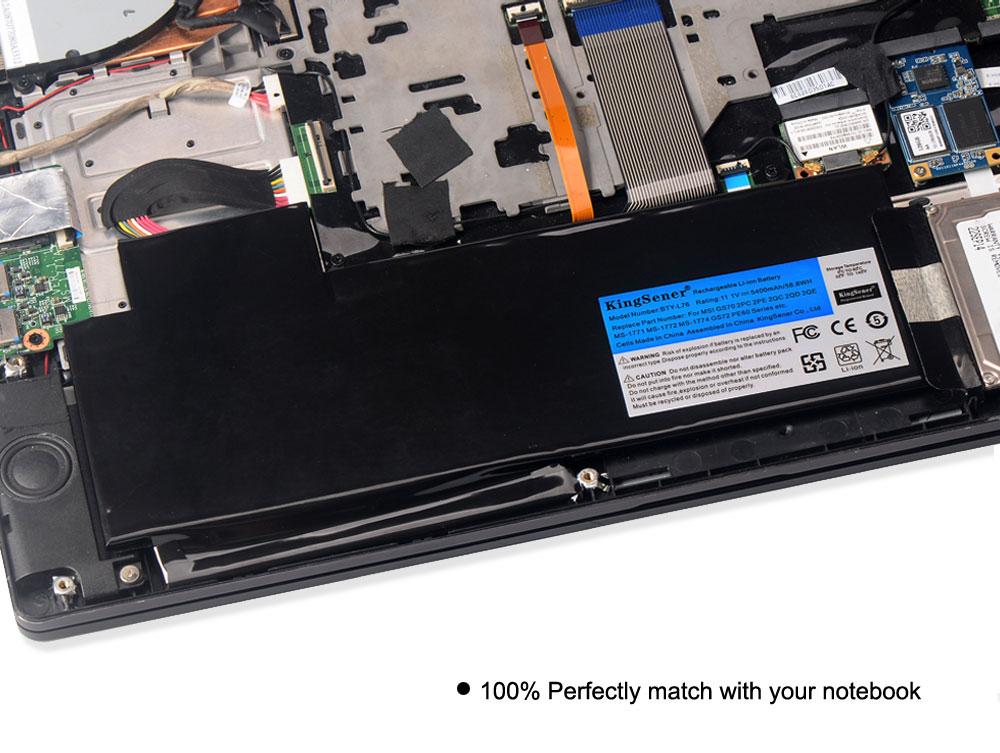 KingSener BTY-L76 Batterie Pour MSI GS70 2OD 2PC 2PE 2QC 2QD 2QE GS72 MS-1771 MS-1772 MS-1773 MS-1774 Pour MEDION X7613 MD98802 - 5