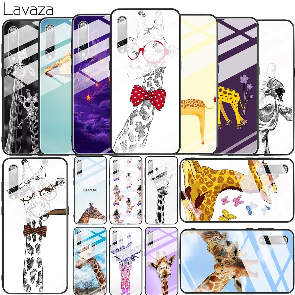 Mignon Animal girafe verre trempé étui pour Xiaomi 8 Lite 9 F1 A1 5X A2 6X couverture