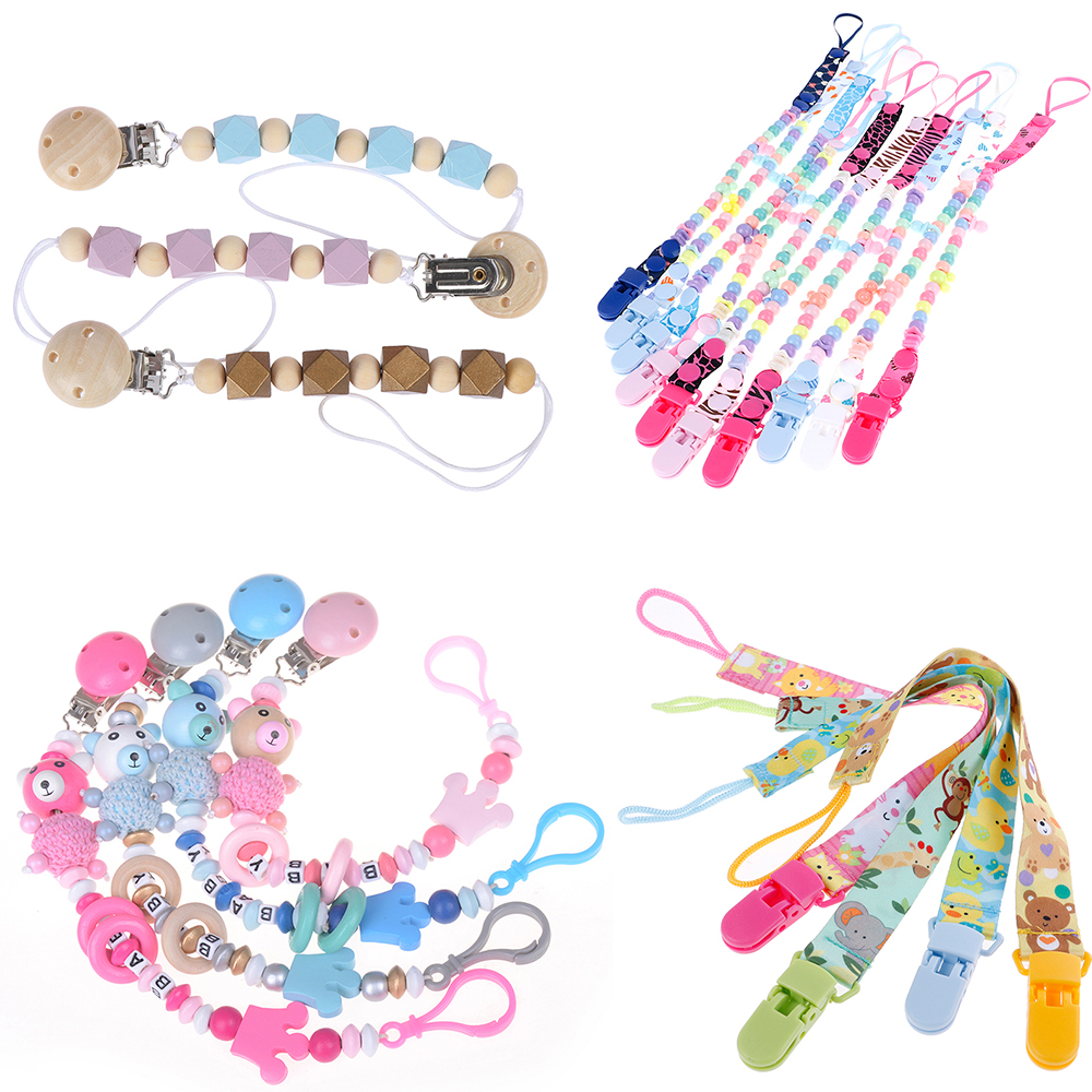1PC Anti-drop Rope Baby Pacifier Clip Pacifier Chain Dummy Clip Nipple Holder For Nipples Children Pacifier Clips Teether