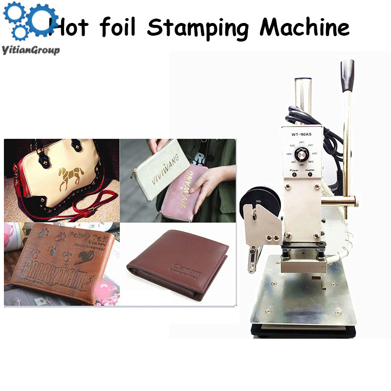 Hot Foil Stamping Machine Leather Wood Paper Branding Logo Marking Press Machine Leather Embossing Machine