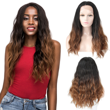 Ombre Brown Synthetic Lace Front Wigs Long Wavy Glueless Lace Front Wig