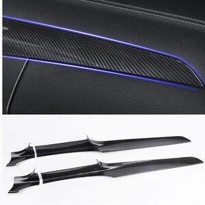 For Mercedes Benz C Class GLC W205 180 200 X253 260 2015 -18 LHD Car Center Console Dashboard Trim Strips Carbon Fiber Color