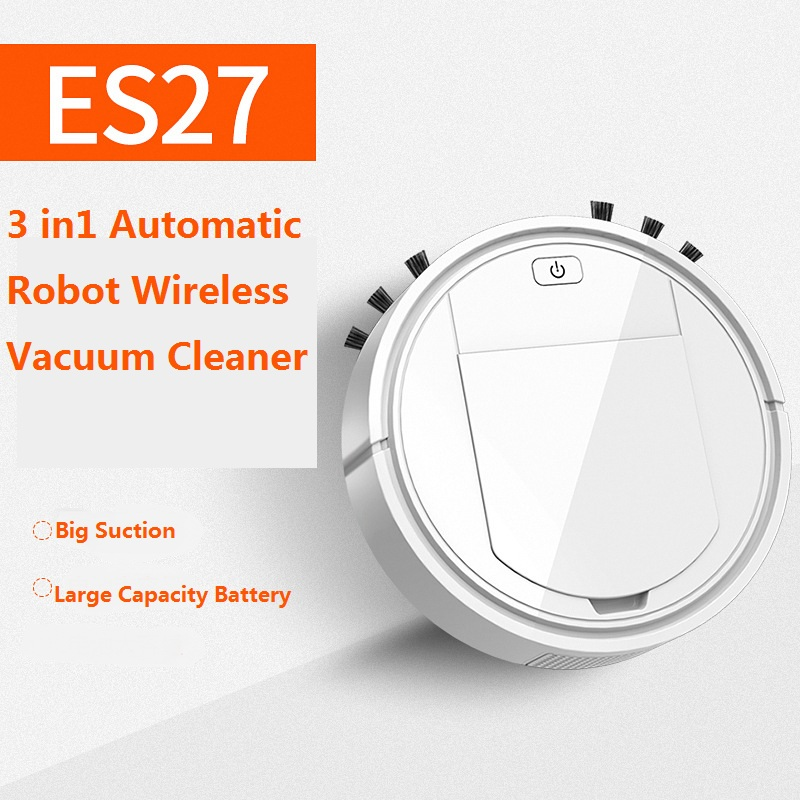 3 In1 Automatic Wireless Robot Vacuum Cleaner Sweeping USB Charging Intelligent Vaccum Cleaner Robots Household Home Machine