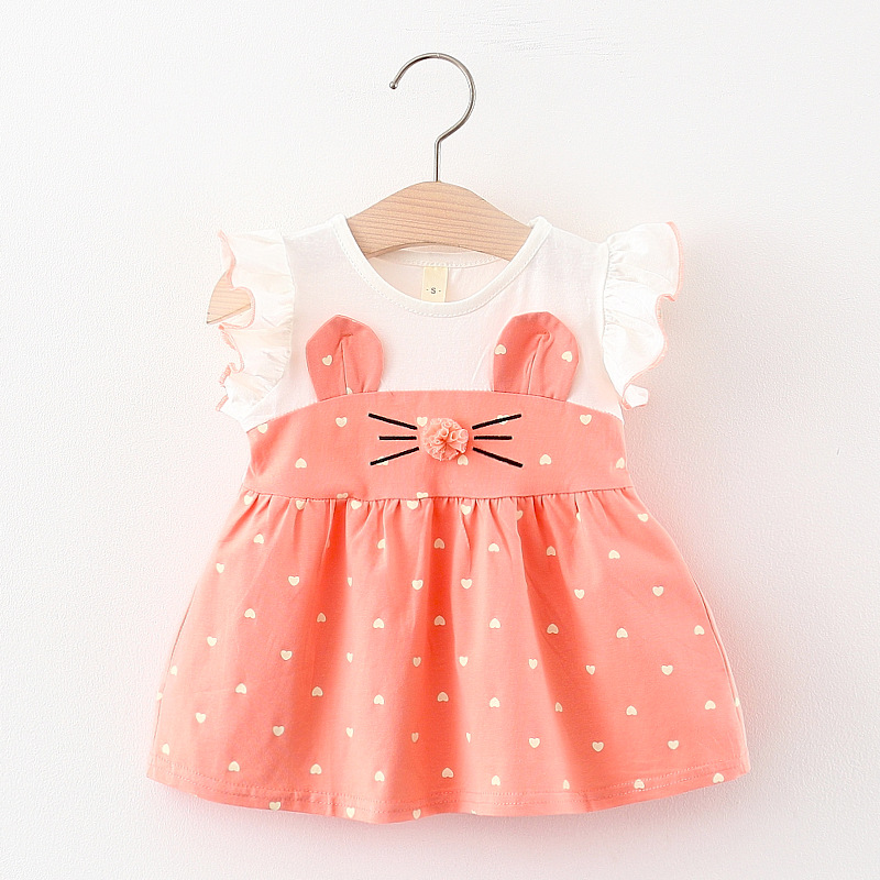 Melario Baby Girls Clothes Summer Dress Flying Sleeve Newborn Infant Dresses Solid Lace Dress Toddler Dresses for Baby Girls