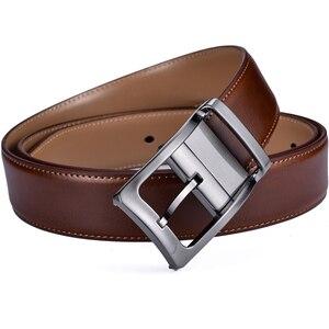 Image 4 - Мужской Реверсивный классический кожаный ремень с вращающейся пряжкой от 85 см до 160 см два в одном от Beltox fine