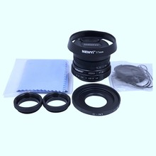 Newyi 25Mm F/1.8 Cctv Mini Lens for All Nikon 1 Mount Mirror Camera and Hood Adapter 7 in 1 Kit(China)
