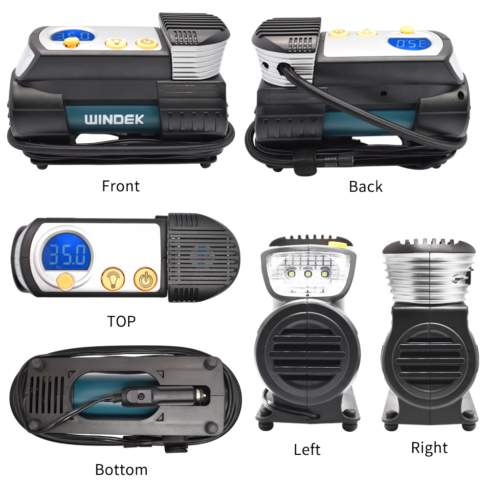 Купить с кэшбэком WINDEK Car Tyre Inflator for Auto Compressor Tire Pump 12V Super Fast Heavy Duty SUV Digital Air Compressor