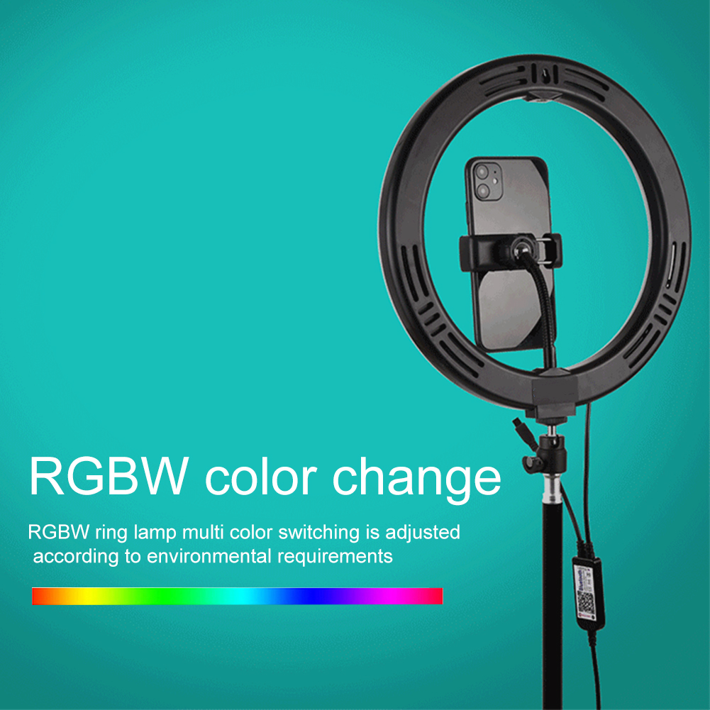 cheapest Photography LED Selfie Ring Light 12 in Adjustable Metal Camera Phone Ring Lamp with Stand Tripods for Makeup Video Live Studio