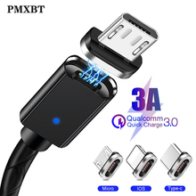Magnetic Cable 3A Fast Charging Data Cable for iPhone Samsung Xiaomi Micro USB Type C Magnet Charger mobile phone cable Usb Cord все цены