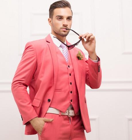 Popular Style One Button Groom Tuxedos Groomsmen Men's Wedding Prom Suits Bridegroom (Jacket+Pants+Vest)