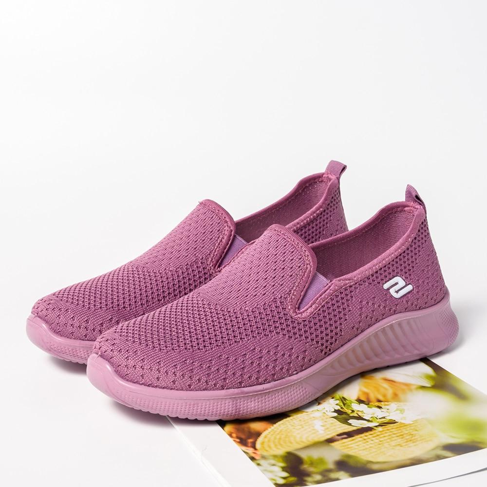 2020 summer women's sneakers slip on soft women's shoes flat casual sock shoes Ladies  Mesh lofaers fashion Vulcanize Shoes 7