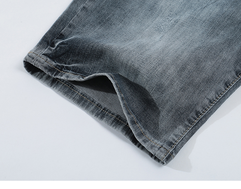 KSTUN Jeans Shorts Mens Grey Jeans Stretch Slim Straight Vintage Casaul Pants Summer Denim Shorts Male Jeans High Quality Brand 18