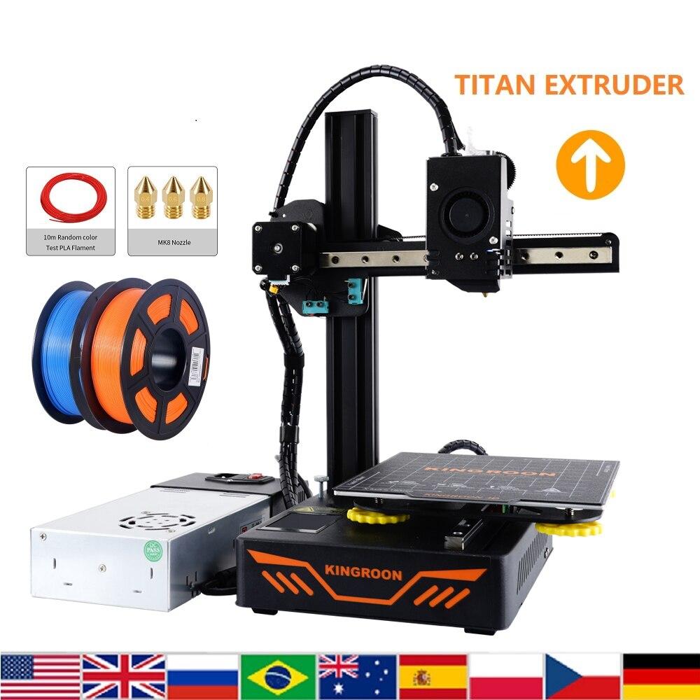 KINGROON KP3S 3.0 3D Printer KIT Titan Extruder Magnetic Plate Power Failure Resume 180*180*180mm Printing XY Metal Guide Rail