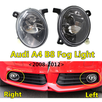 Car Front Bumper Grille Lamp For Audi- A4 B8 Fog Light 2008 2009 2010 2011 2012 Auto Accessory Fog Lamp Assembly 8T0941699B/700B image