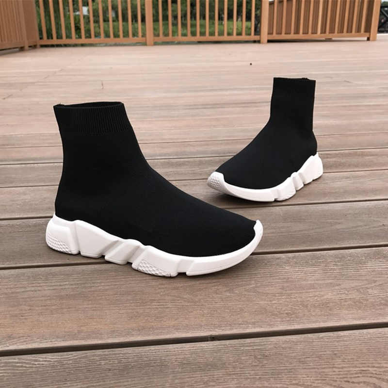 Women Platforms Shoes Slip on Knitted