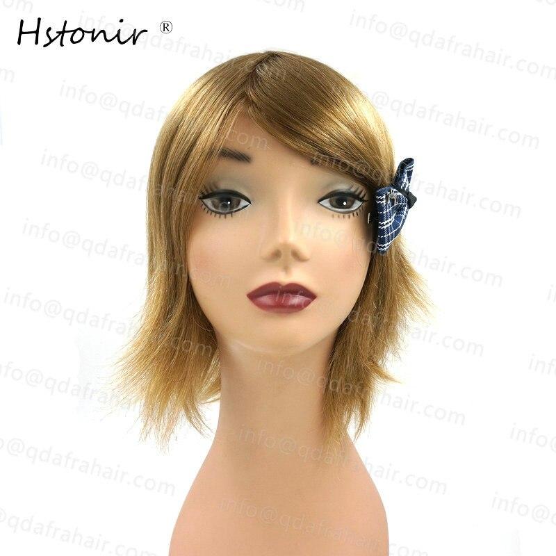 Hstonir Long Hair Natural Men And Women Wigs European Remy Hair Injection Thin Skin Toupee H076 - 2