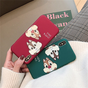 GYKZ Cute Chip Dale Squirrel Fitted Case For iPhone 7 11 Pro XS MAX XR X 6 6s 8 Plus Cartoon Animal Phone Coque Red Soft TPU Bag(China)