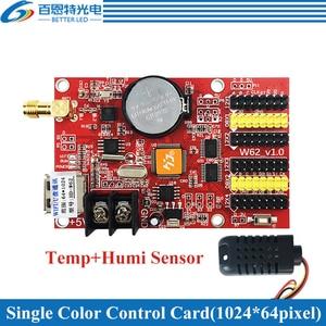 Image 4 - HD W62 USB + Wifi 4 * HUB12 2 * HUB08 لون واحد (1024*64 بكسل) واللون المزدوج (512*64 بكسل) LED بطاقة التحكم في العرض