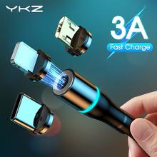 Kabel magnetyczny YKZ typ C kabel Micro USB 3A szybka ładowarka przewód szybkie ładowanie dla iPhone 12 Samsung USB-C telefon komórkowy 11 Pro tanie tanio LIGHTNING TYPE-C CN (pochodzenie) NYLON USB A Magnetyczne 2 w 1 3 w 1 Złącze ze stopu Only Charging Not for Data transfer