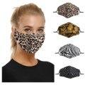 Маска для взрослых и женщин с леопардовым принтом Пылезащитная Дымчатая маска для лица моющиеся шапки для рта хлопковые Наушники маска для ...