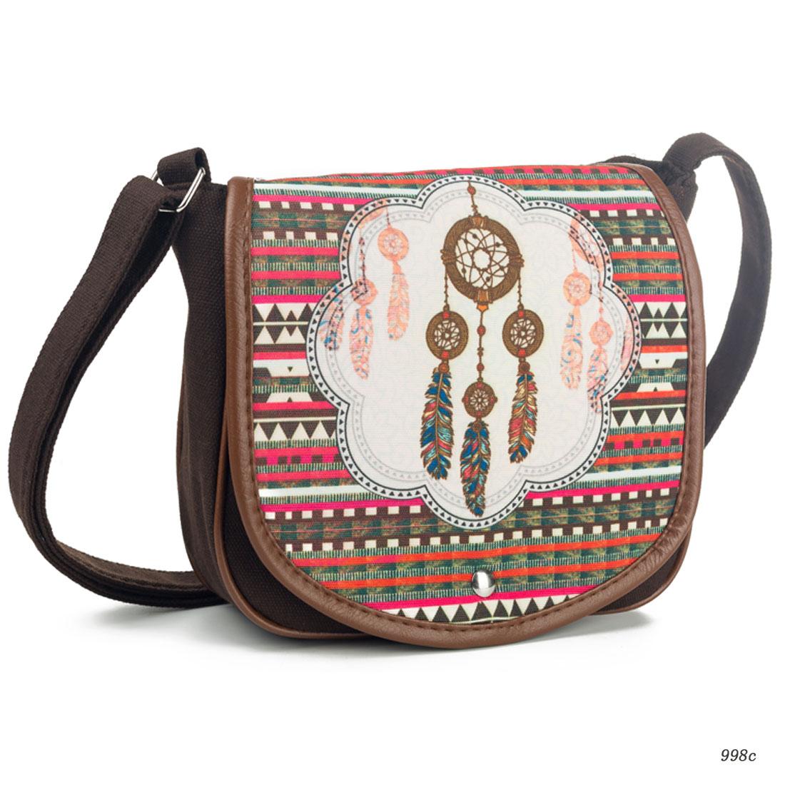 Wholesale Price Dropshipping Cheap Fashion Women Messenger Bag Canvas Bag Printed Crossbody Bag Women Shoulder Bag Embroidery