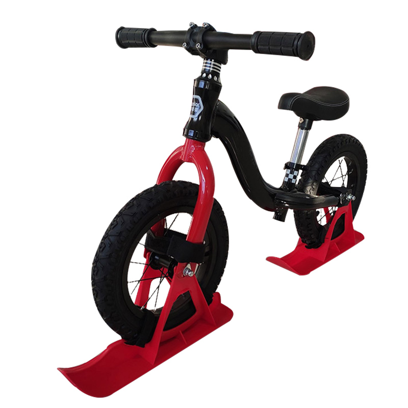 NEW 12in Kids Balance Bike Snowboard Sled Children Scooter Wheel Parts Snow Skiing Ski Board