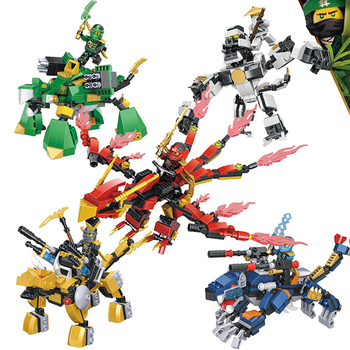 Compatible NINJAgoed Mech Two Forms Action MINI Figure Heroes With Weapons Zane Lloyd  ninja Building Blocks Toys for children the ninjagoes movie temple weapon ninja blocks kai lloyd nya action figure set compatible legoinglys gift for kid friends