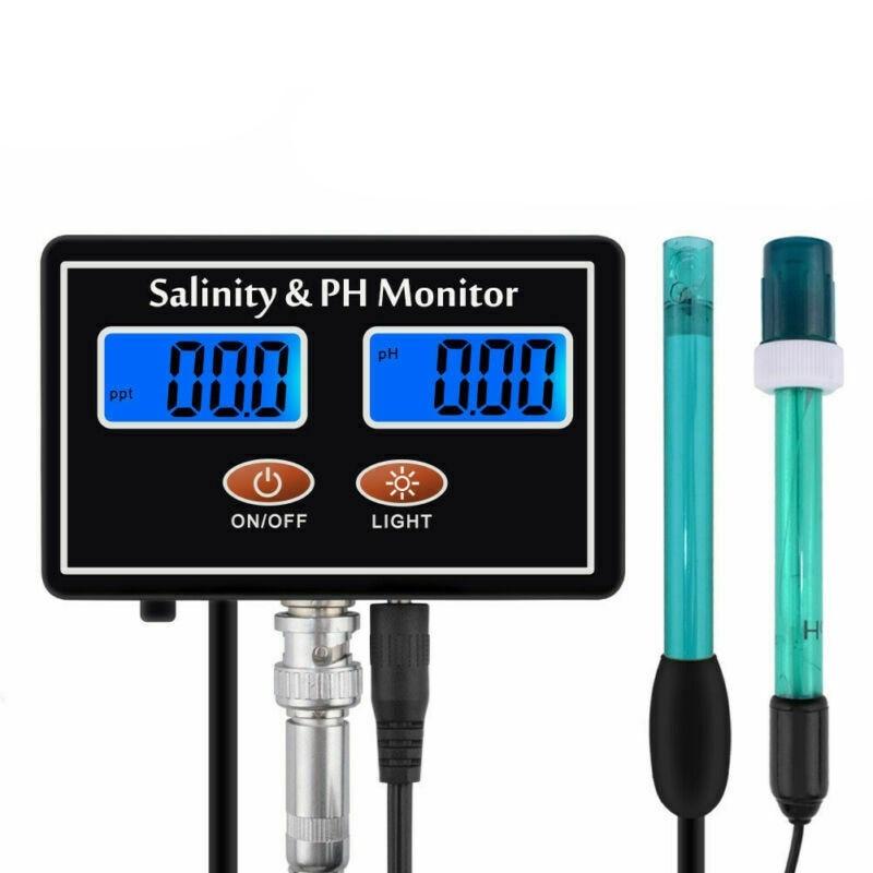 salgada tester lcd ph salinidade em tempo