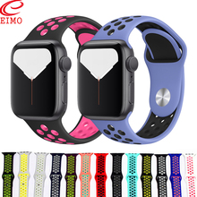 Strap For Apple Watch band 44 mm 40mm 42mm 38mm iwatch series 5 4 3 2 1 Sport Nike Silicone bracelet Watchband watch accessories цена