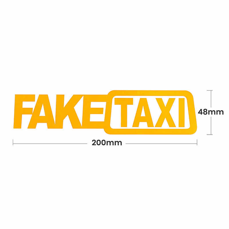 Поддельные такси автомобиля наклейка эмблема значок самоклеющиеся универсальные для BMW Ford Toyota Kia Opel Turbo JDM автостайлинг для автомобильных окон