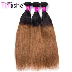 Tinashe włosów 1B 30 kolorowe Ombre brazylijskie doczepy do włosów wyplata wiązki Remy ludzkich włosów 3 wiązki pasma prostych włosów
