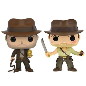 Funko pop Indiana Jones #199 200 Vinyl dolls Action Toys Figures brinquedos Collection Model for Children gifts with box funko pop back to the future 2 marty mcfly dr emmett brown vinyl dolls action figure collectible model toys for child with box