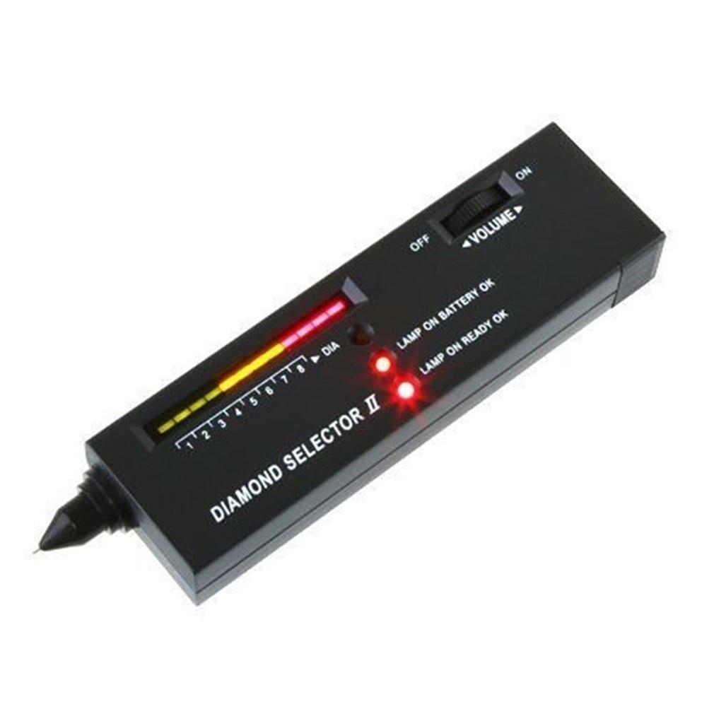 Professional Diamond Tester Gemstone Gem Selector High Accuracy Jewelry Watcher Tool LED Diamond Indicator Test Pen